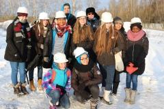 Группа английских школьников на запуске