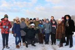 Группа российских школьников на запуске